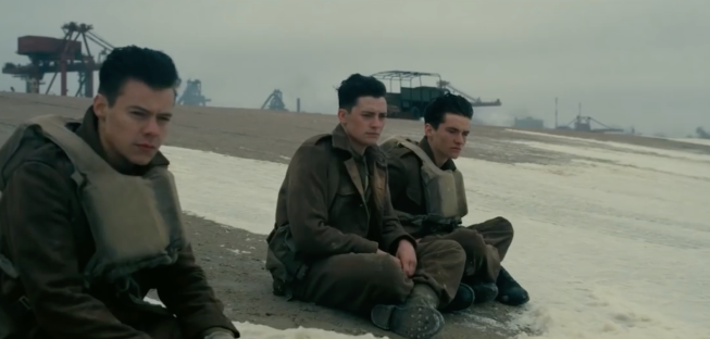 the soldiers in Dunkirk