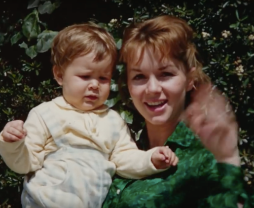 Debbie Reynolds and baby Carrie