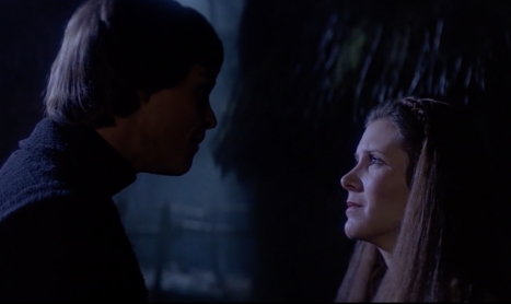 Luke and Leia from Return of the Jedi