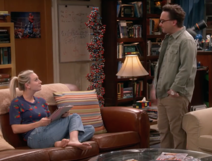 Penny and Leonard on TBBT