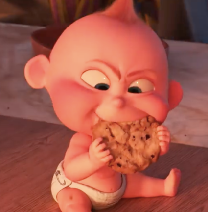 Jack-Jack and a cookie