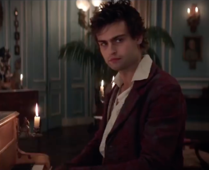 Douglas Booth as Percy Shelley