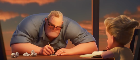 Mr. Incredibles does math