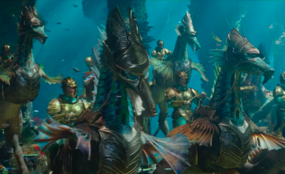 war seahorses in aquaman trailer