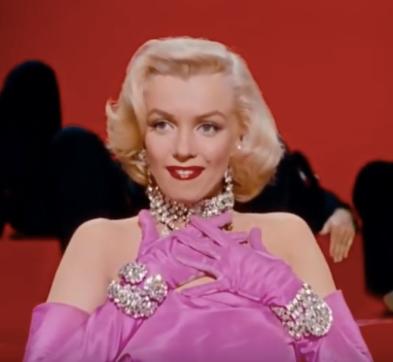 Marilyn doing diamonds are forever
