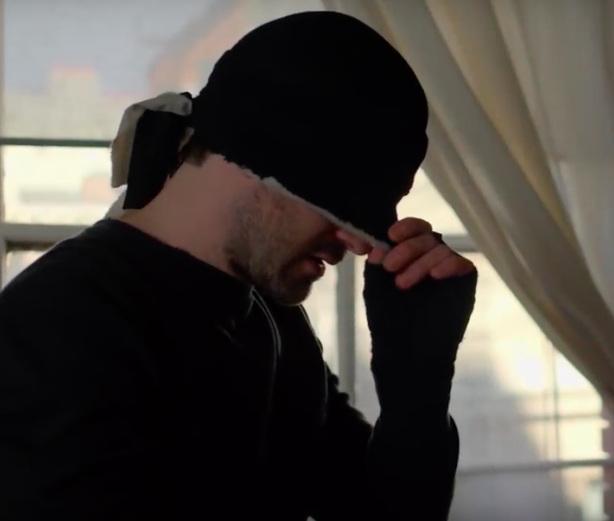 Charlie Cox as Daredevil in black suit
