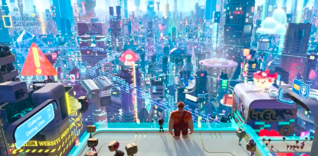 The Internet in Ralph Breaks the Internet