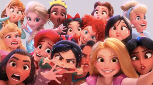 The Princesses in Ralph Breaks the Internet