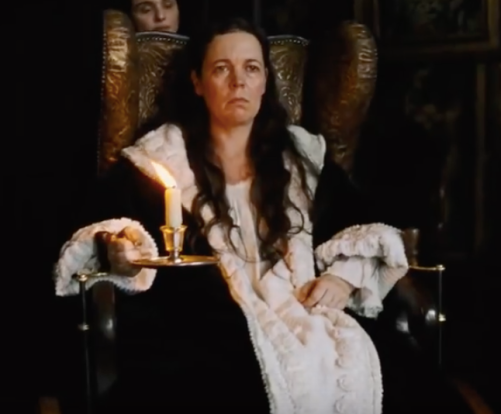 Olivia Colman in the favorite