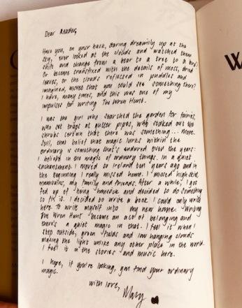 letter inside book