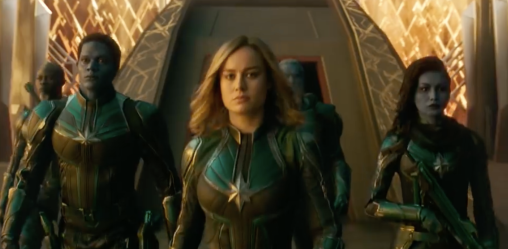 carol and the kree in captain marvel