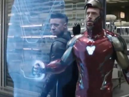 Iron Man and Hawk Eye