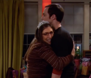 Amy and Sheldon in the BBT