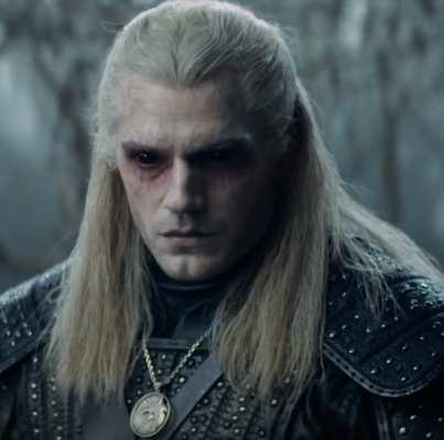 Henry Cavil in the Witcher