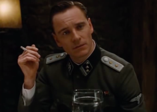 Fassbender in Inglorious Basterds