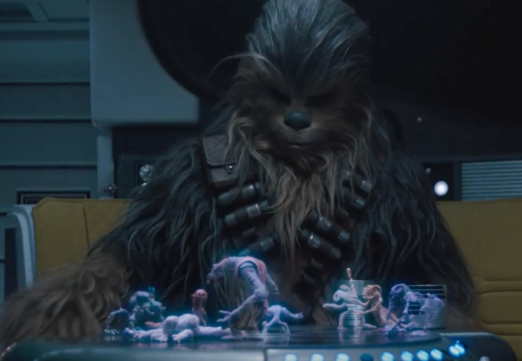 chewy playing holochess Star Wars