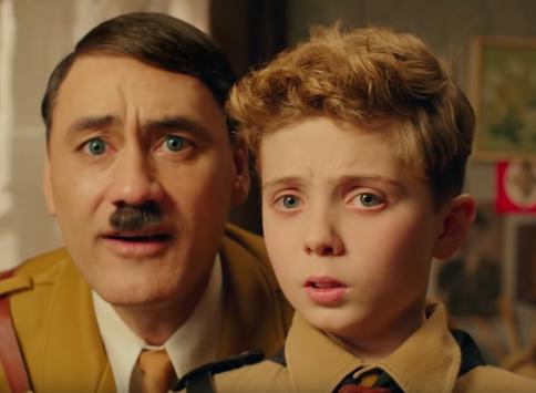 Hitler and Jojo in Jojo Rabbit