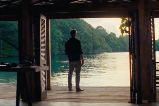 Daniel Craig looks out at peaceful scenery