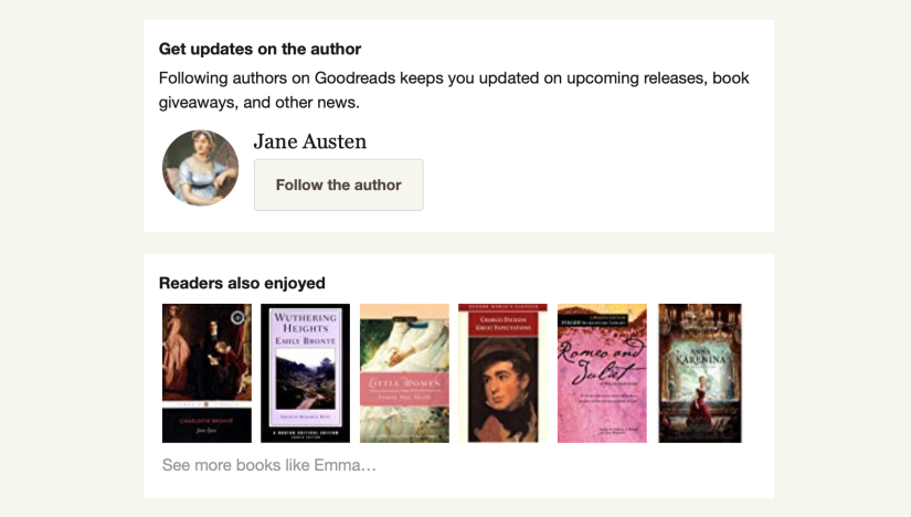 author updates on goodreads