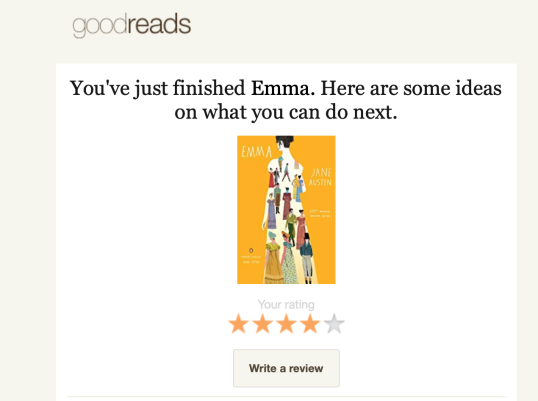 Goodreads emails