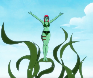 Poison Ivy makes an entrance