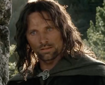 Viggo mortenson as Aragorn in Lord of the Rings