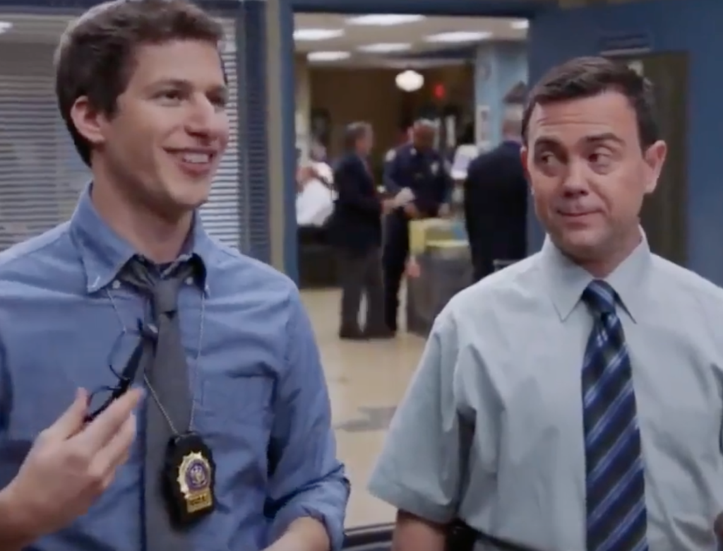 Jake and Charles in Brooklyn 99