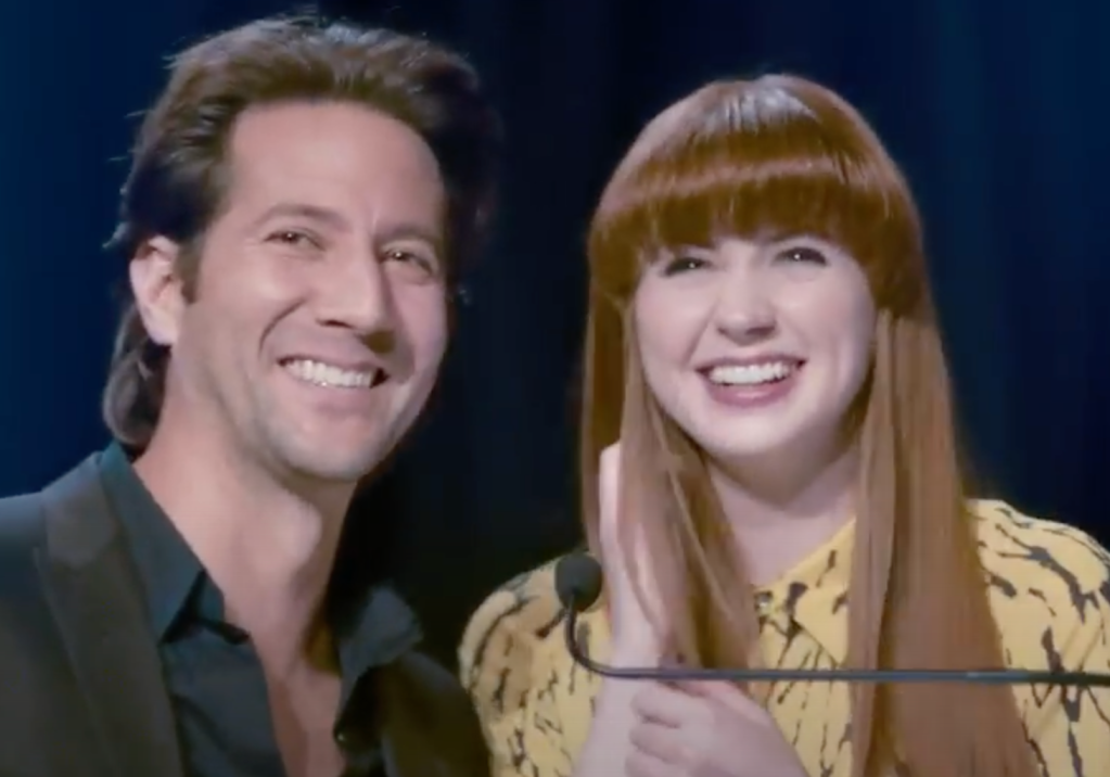 Karen Gillan and Henry Ian Cusick in Not Another Happy Ending